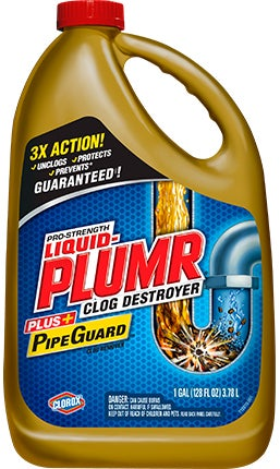 Liquid Plumr Clog Destroyer Pipeguard For Clogged Sinks Liquid